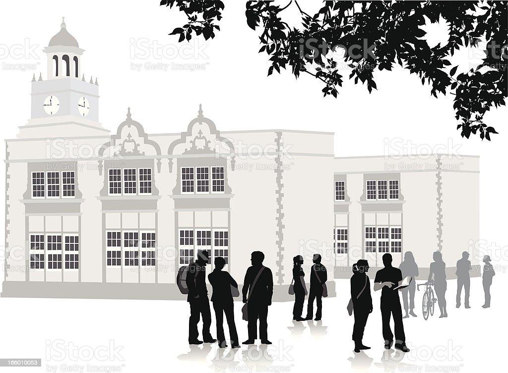 PrepSchool vector art illustration