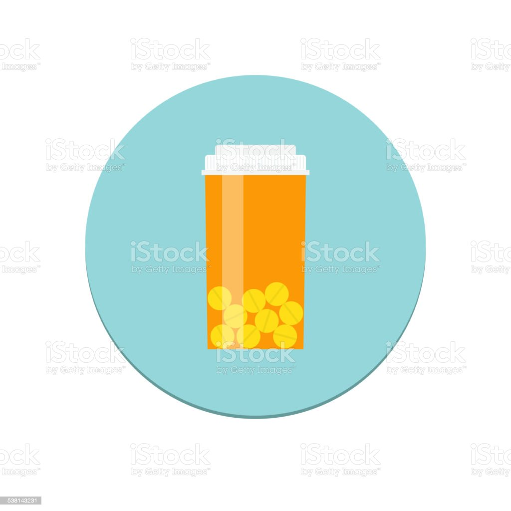 Prescription Bottle Icon vector art illustration