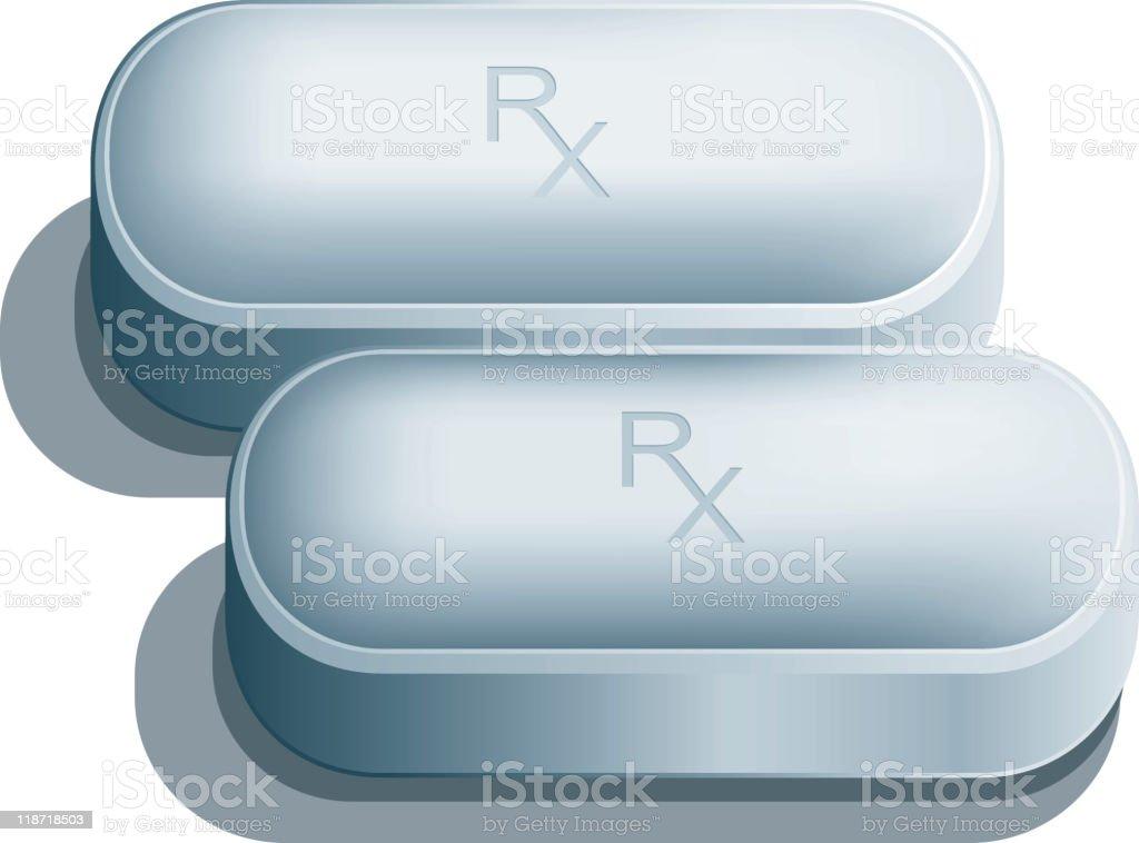 Prescription drug pills royalty-free stock vector art