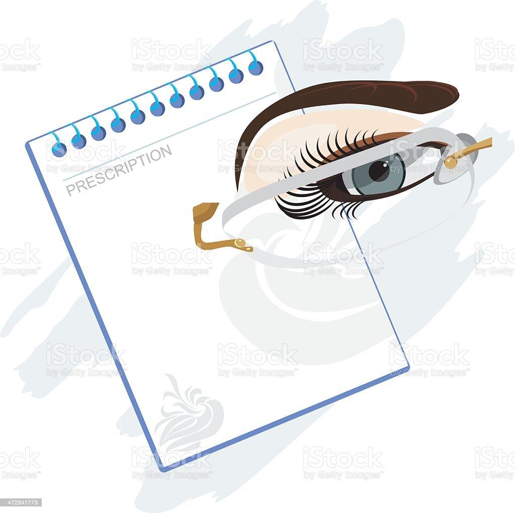 Prescription for glasses royalty-free stock vector art