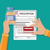 prescription. Healthcare, medical diagnostics