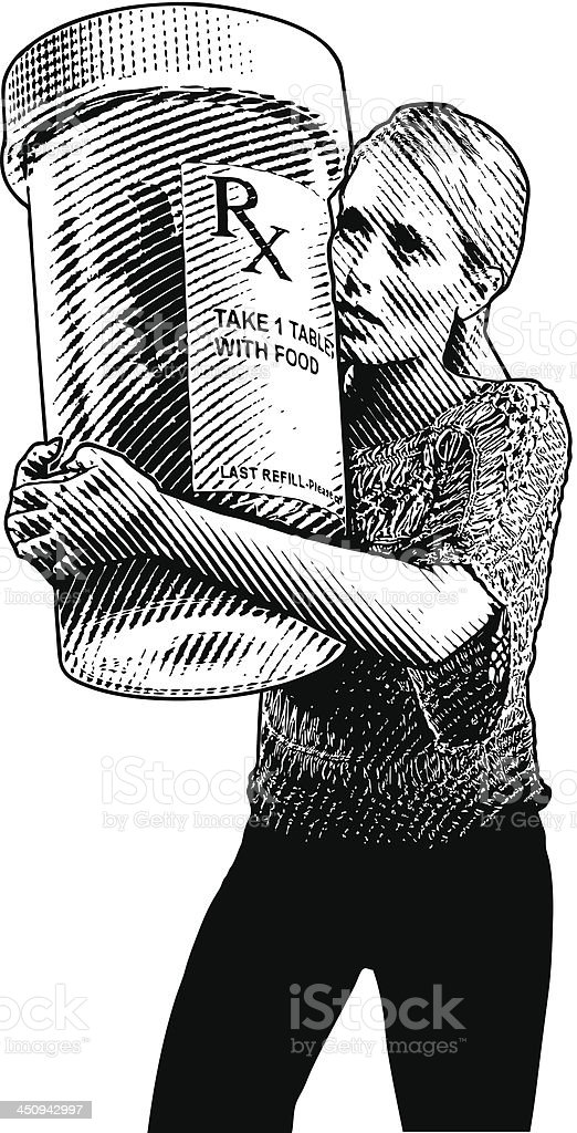 Prescription Medicine And Health Care vector art illustration