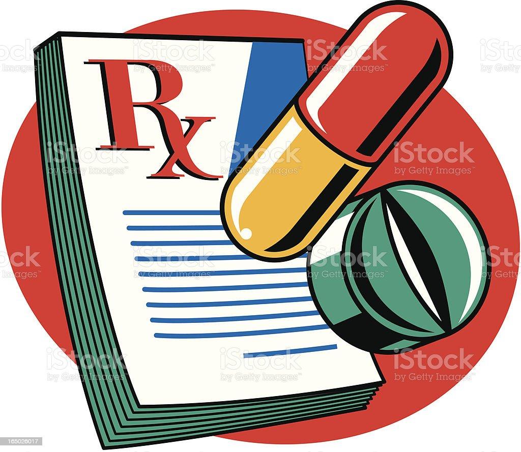 Prescription Pad royalty-free stock vector art