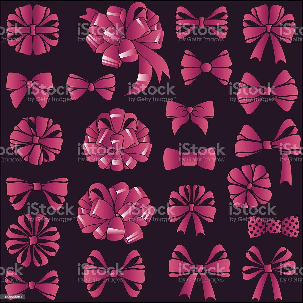 present bows set royalty-free stock vector art