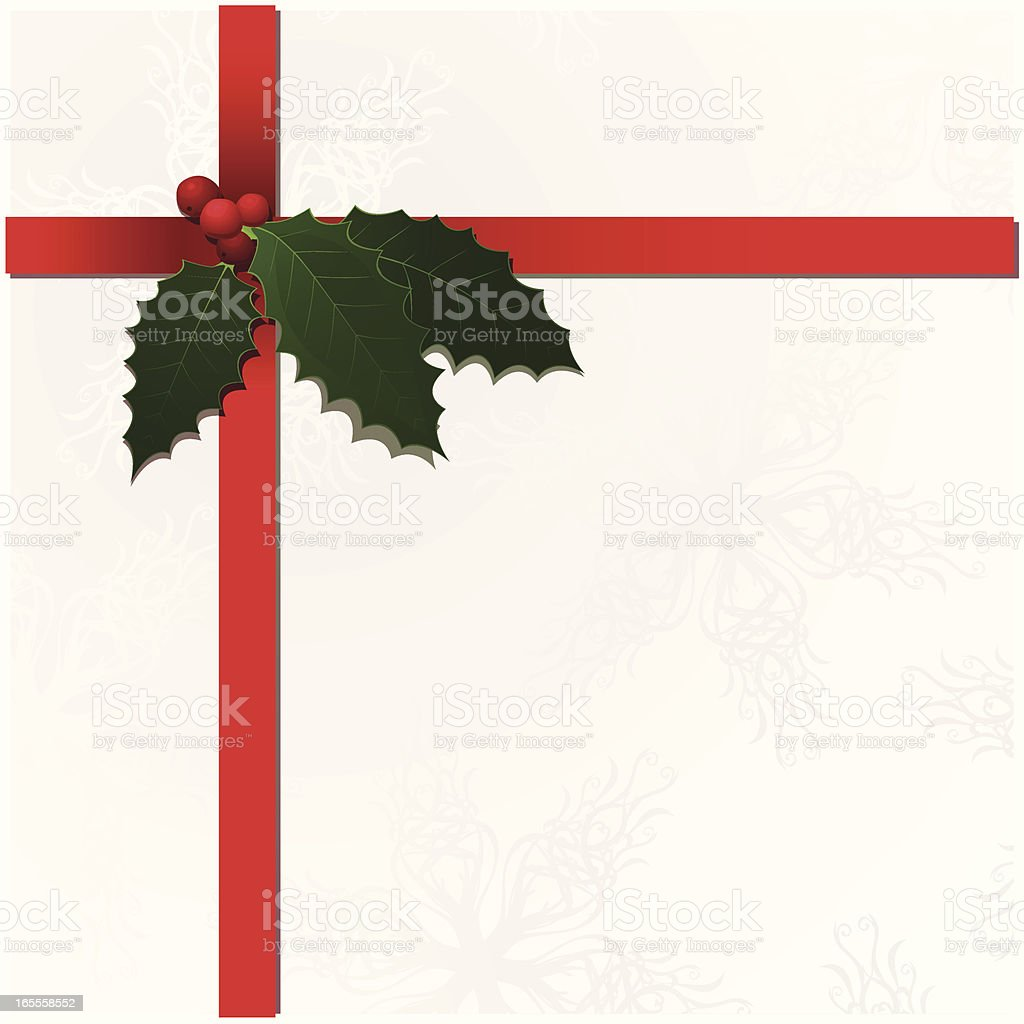 Present with Holly royalty-free stock vector art