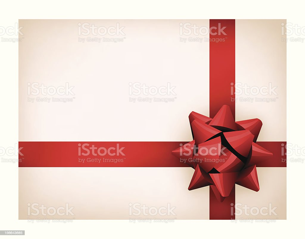 Present with red ribbon vector art illustration
