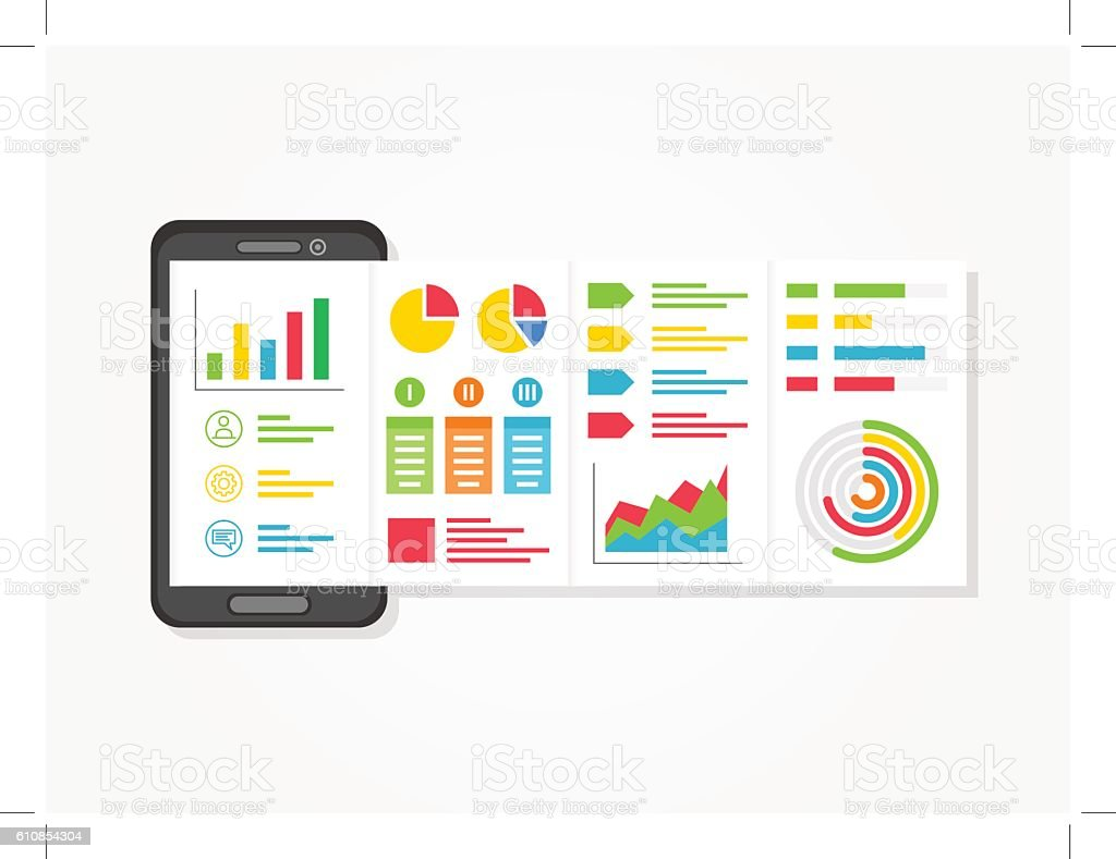 presentation app charts diagrams creative concept stock presentation app charts diagrams creative concept royalty stock vector art