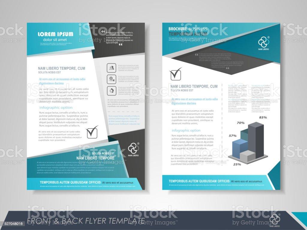 Presentation flyer design vector art illustration