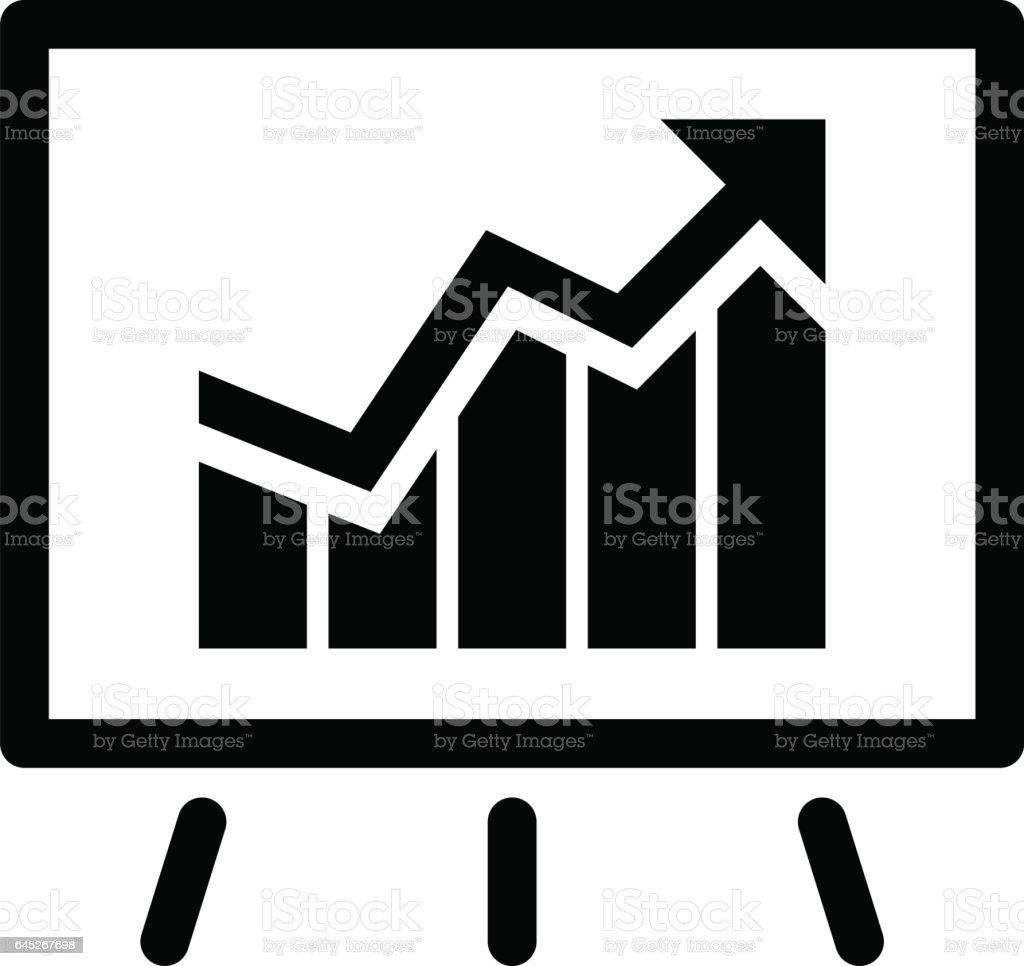Presentation of Achievements Icon. Business Concept. Flat Design vector art illustration
