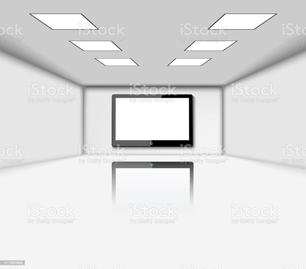 Presentation screen in room vector art illustration