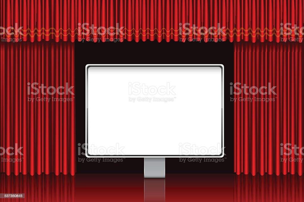 Presentation screen vector art illustration