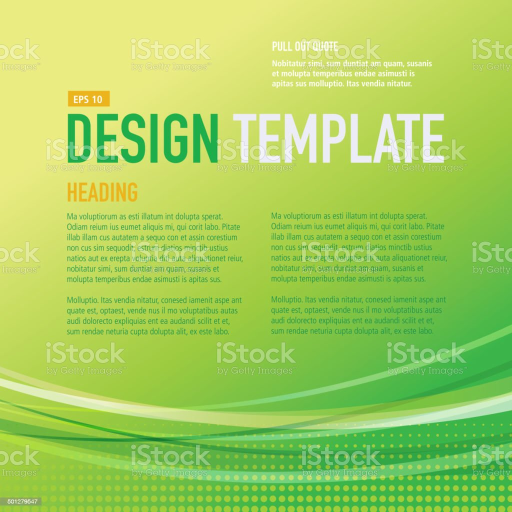 presentation square bright green design layout template sample presentation square bright green design layout template sample flyer royalty stock vector art