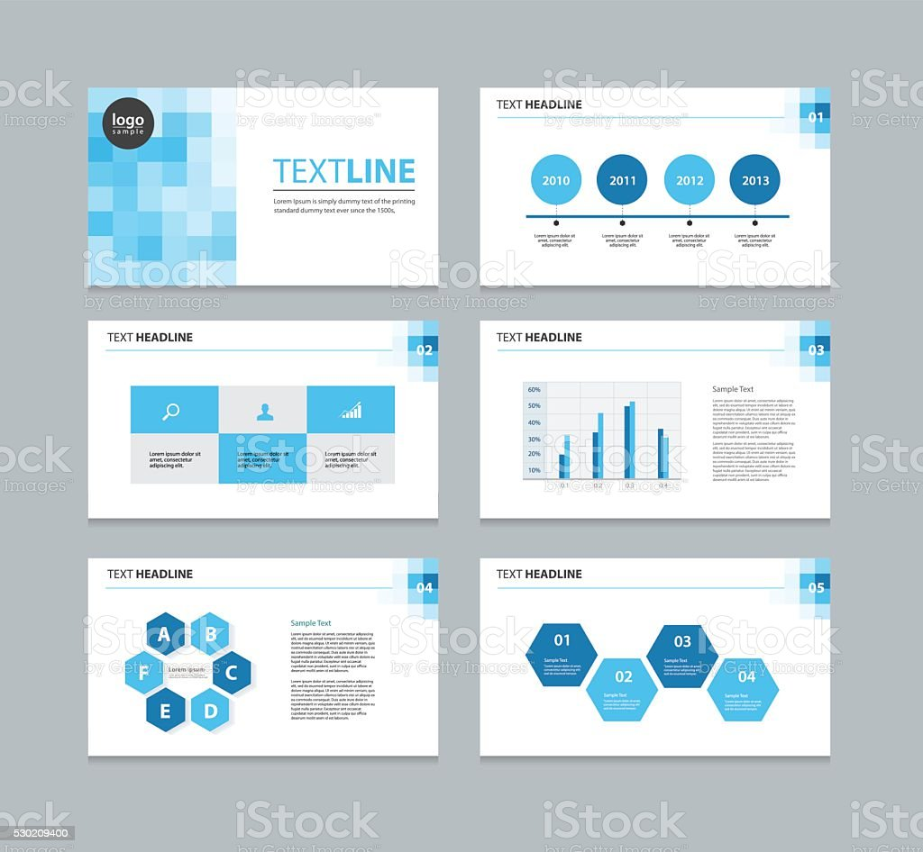 presentation template . vector art illustration
