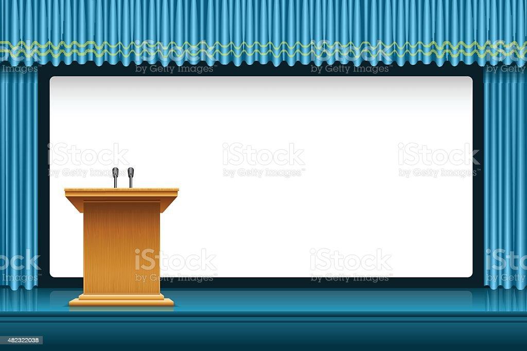 Presentation vector art illustration
