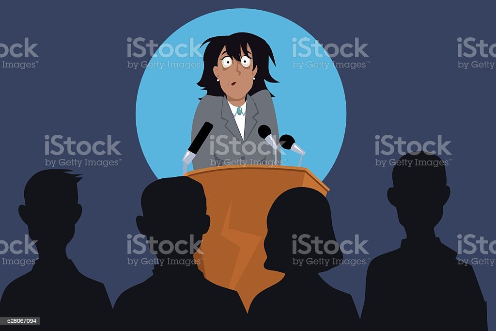 Presentation vector art illustration
