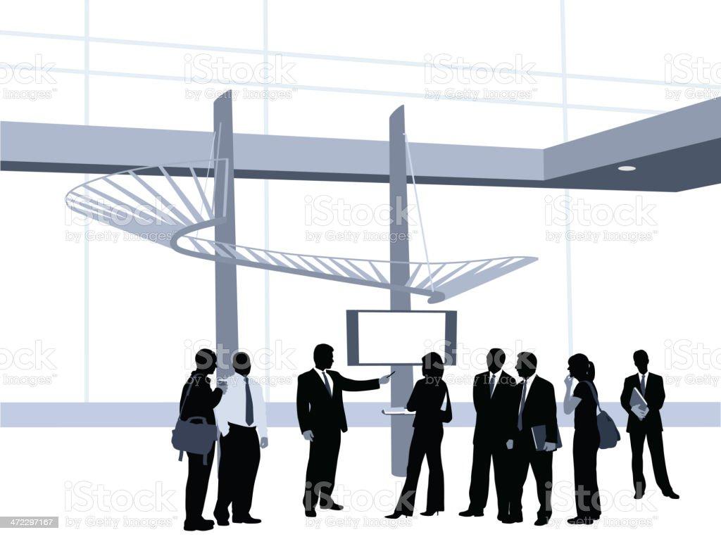 Presentation Vector Silhouette royalty-free stock vector art