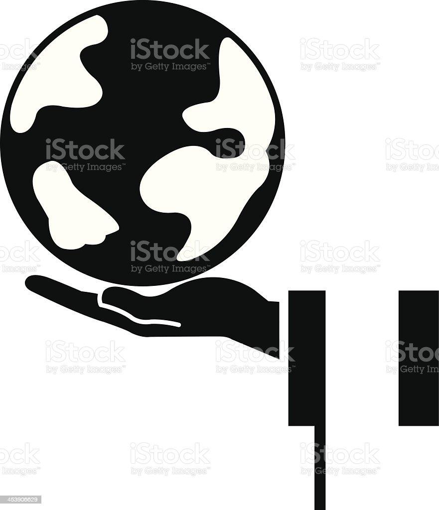 presenting earth royalty-free stock vector art