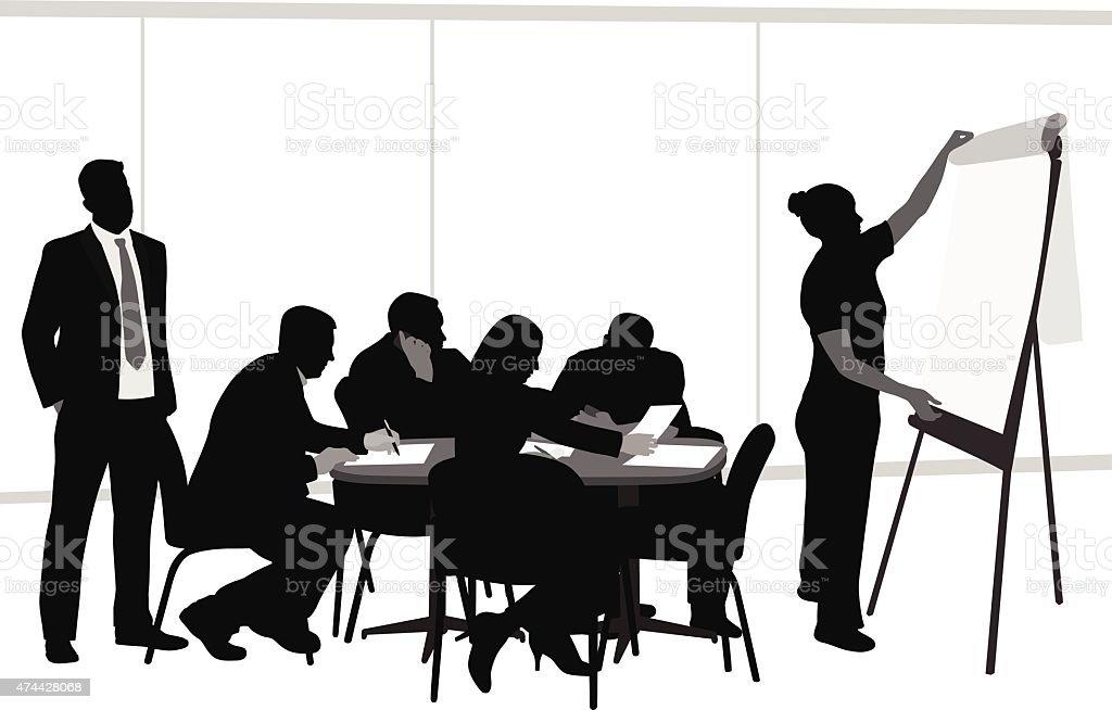 Presenting On Paper vector art illustration