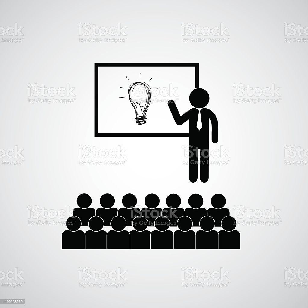Presenting the idea vector art illustration