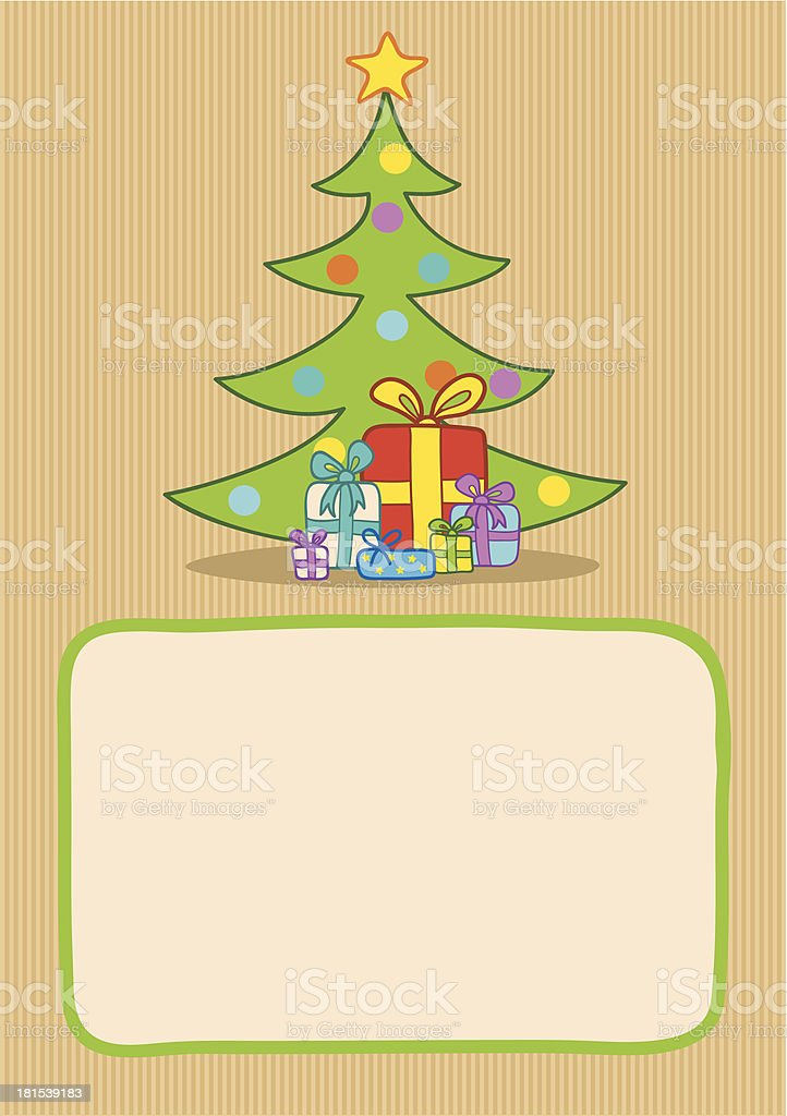 presents and christmas tree royalty-free stock vector art