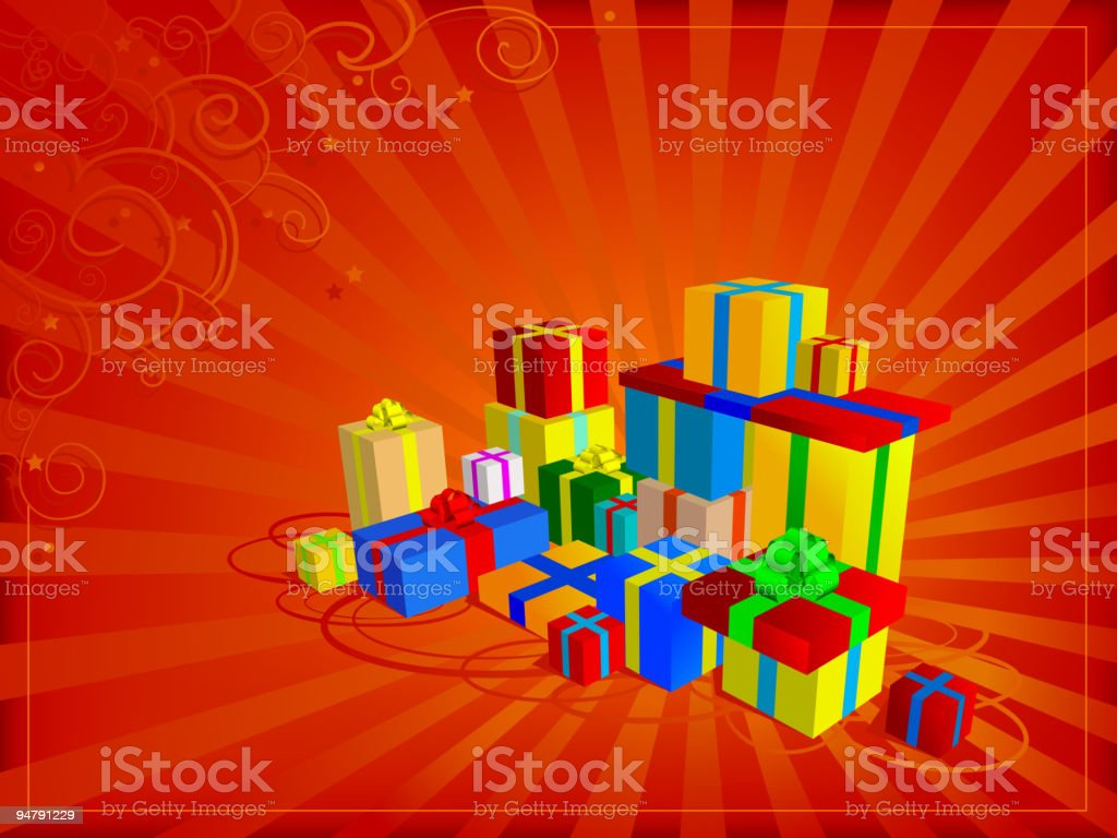 Presents and gifts royalty-free stock vector art