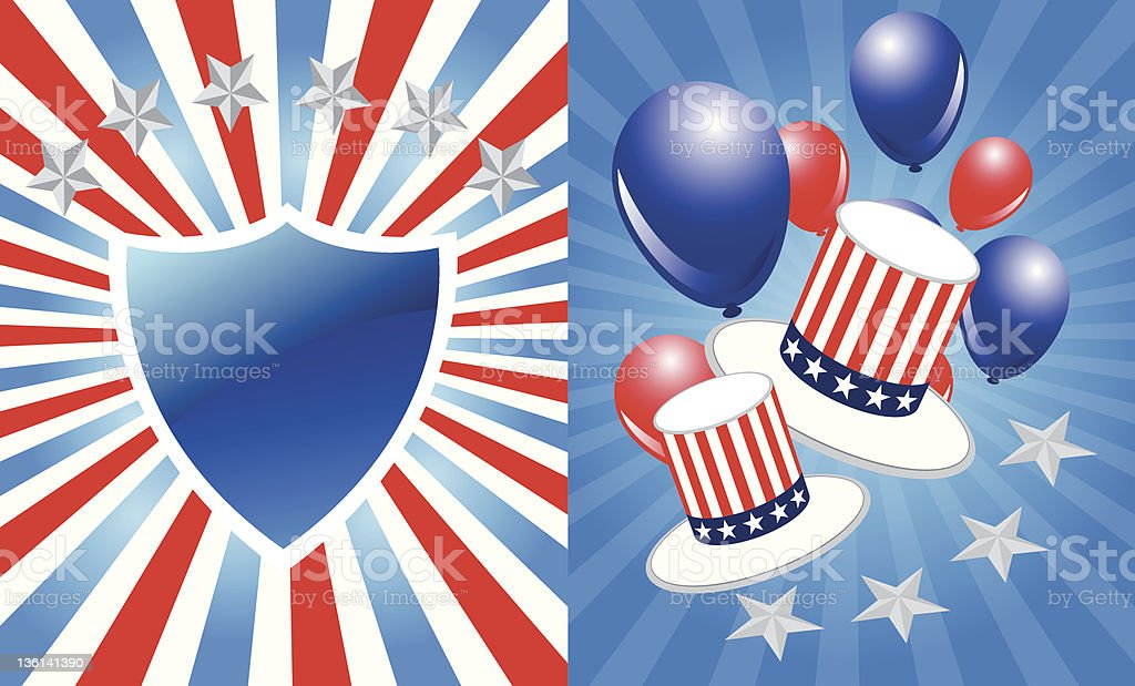 President day background royalty-free stock vector art