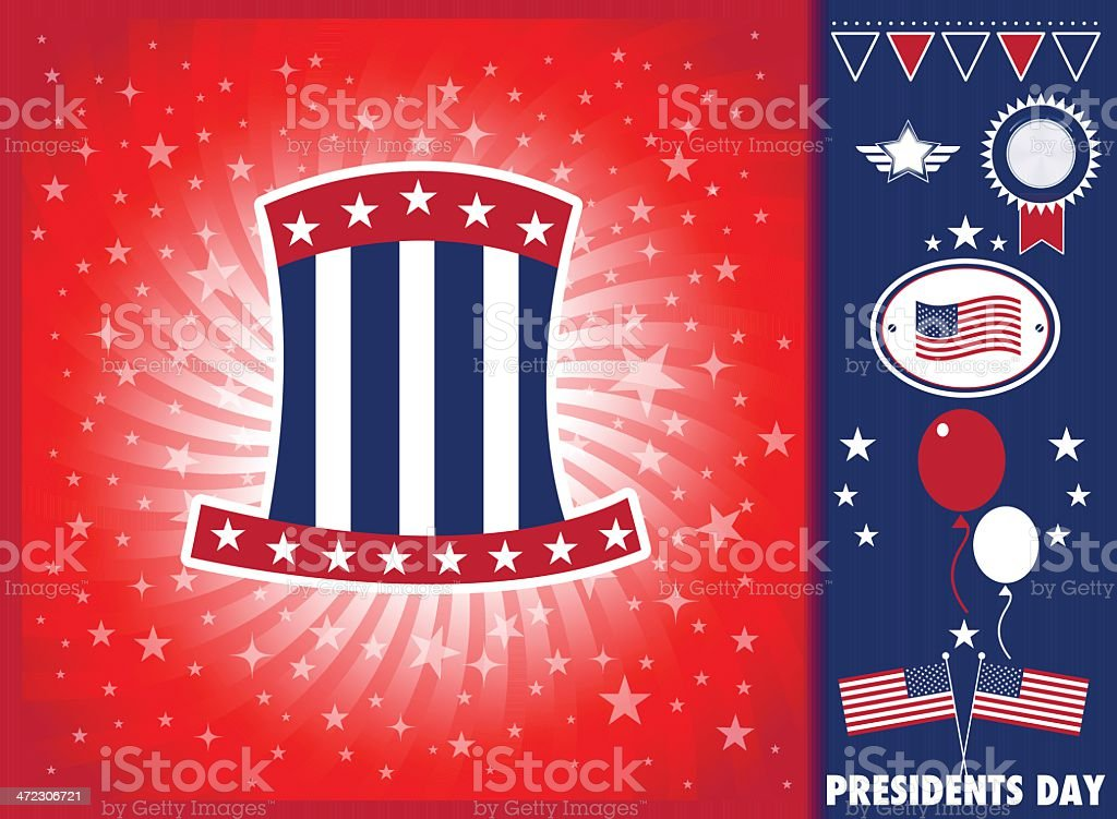 President day elements royalty-free stock vector art