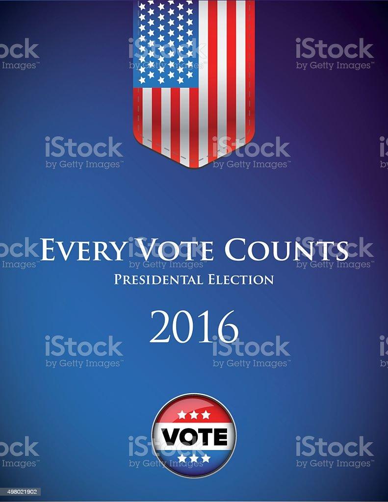 Presidental election 2016 poster or banner vector vector art illustration