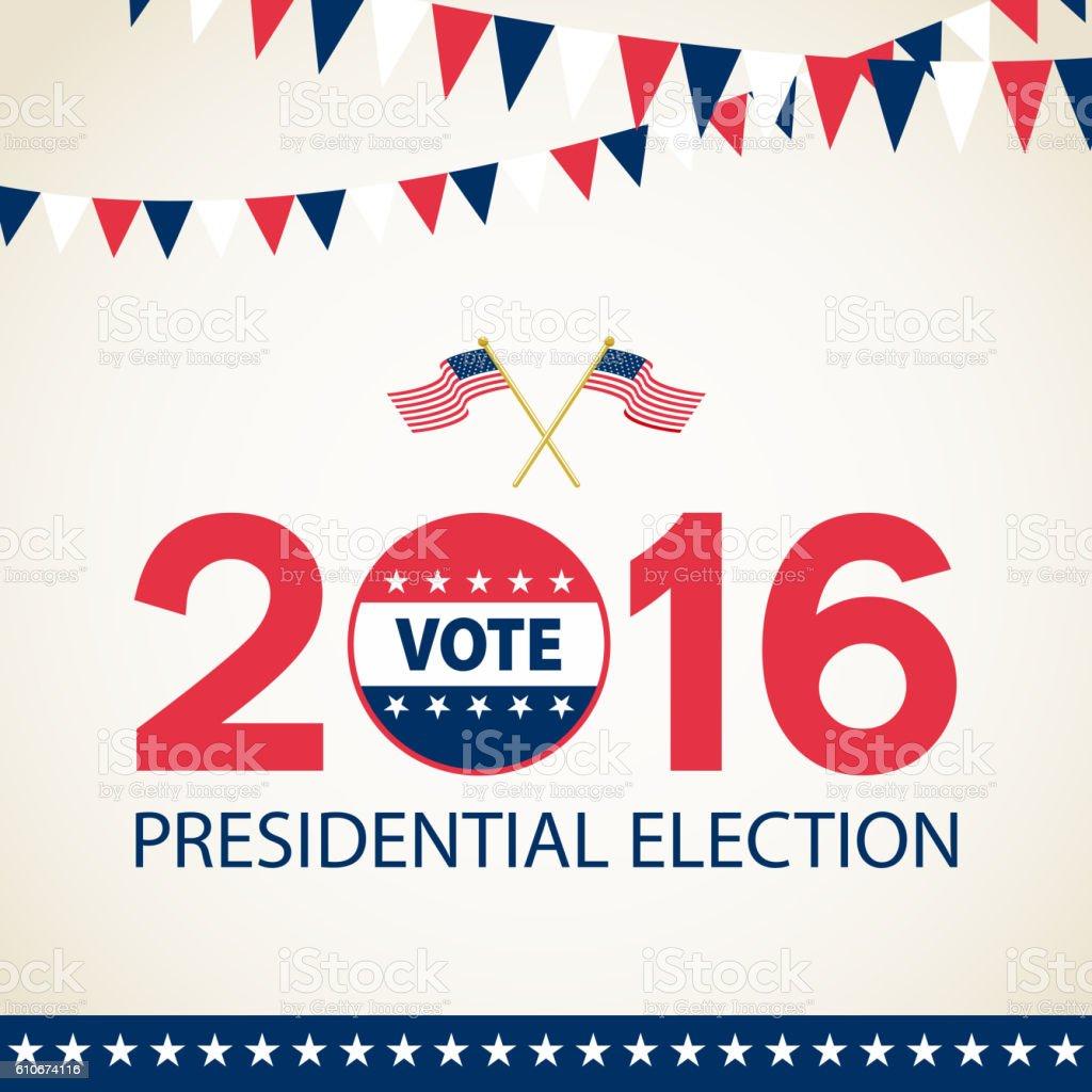 Presidential Election 2016 vector art illustration