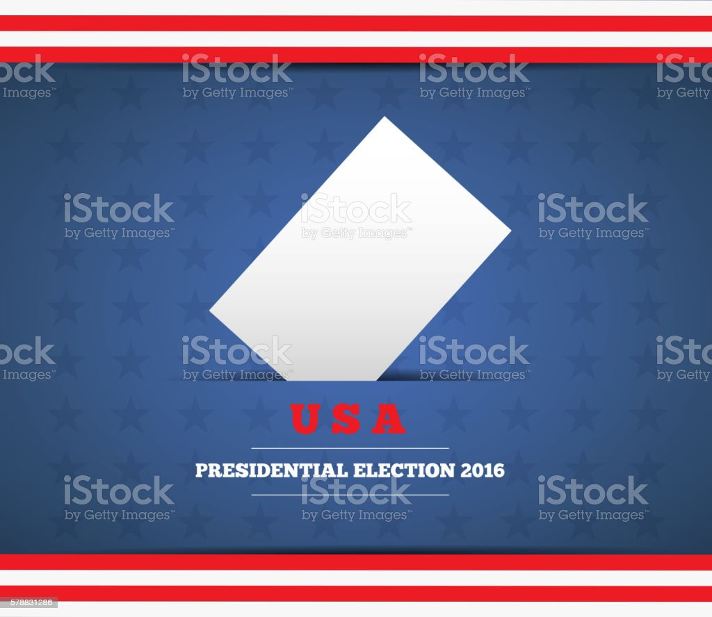 USA presidential election background vector art illustration