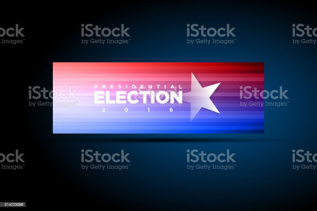 Presidential Election Banner vector art illustration