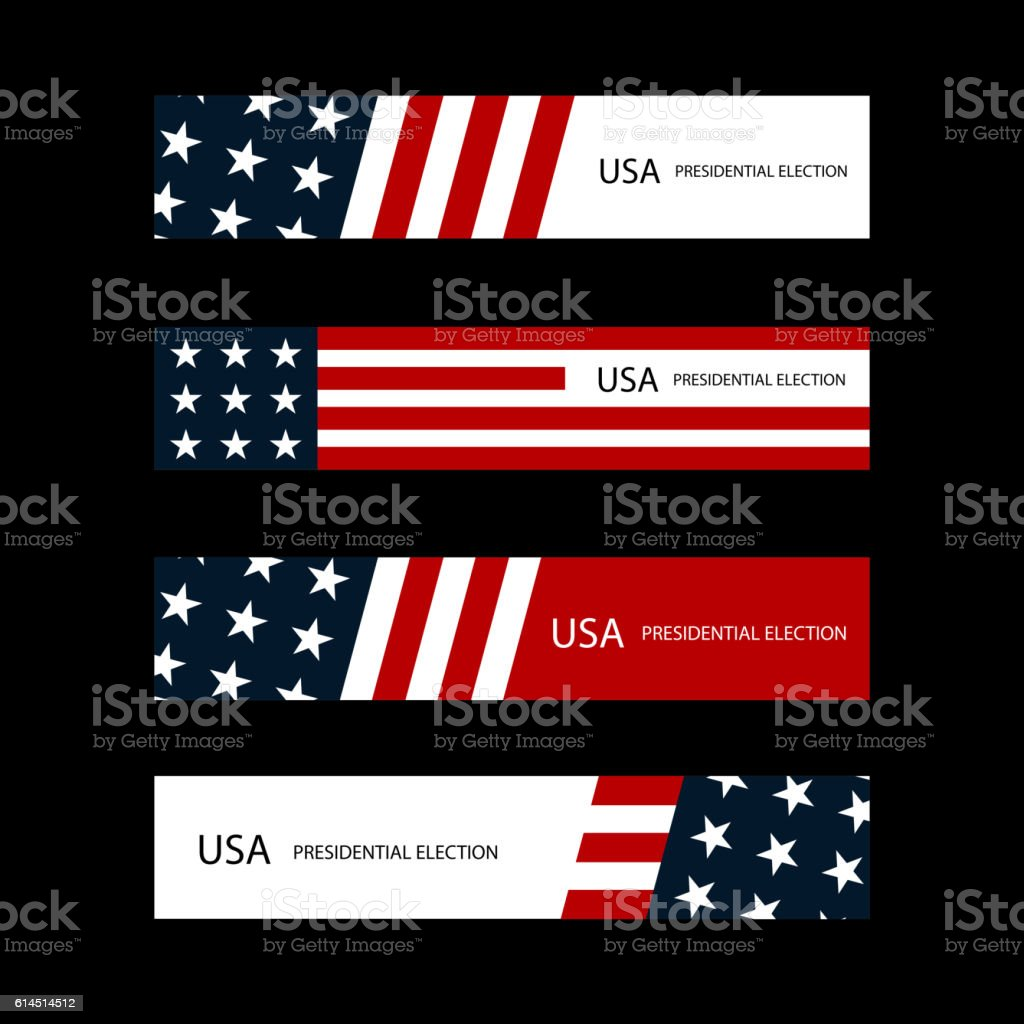 USA presidential election cards vector art illustration