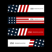 USA presidential election cards