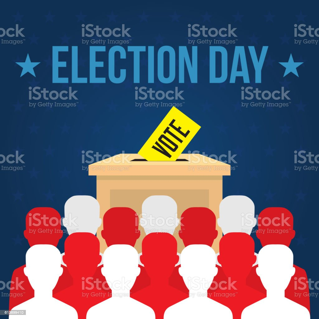 USA presidential election day concept vector vector art illustration