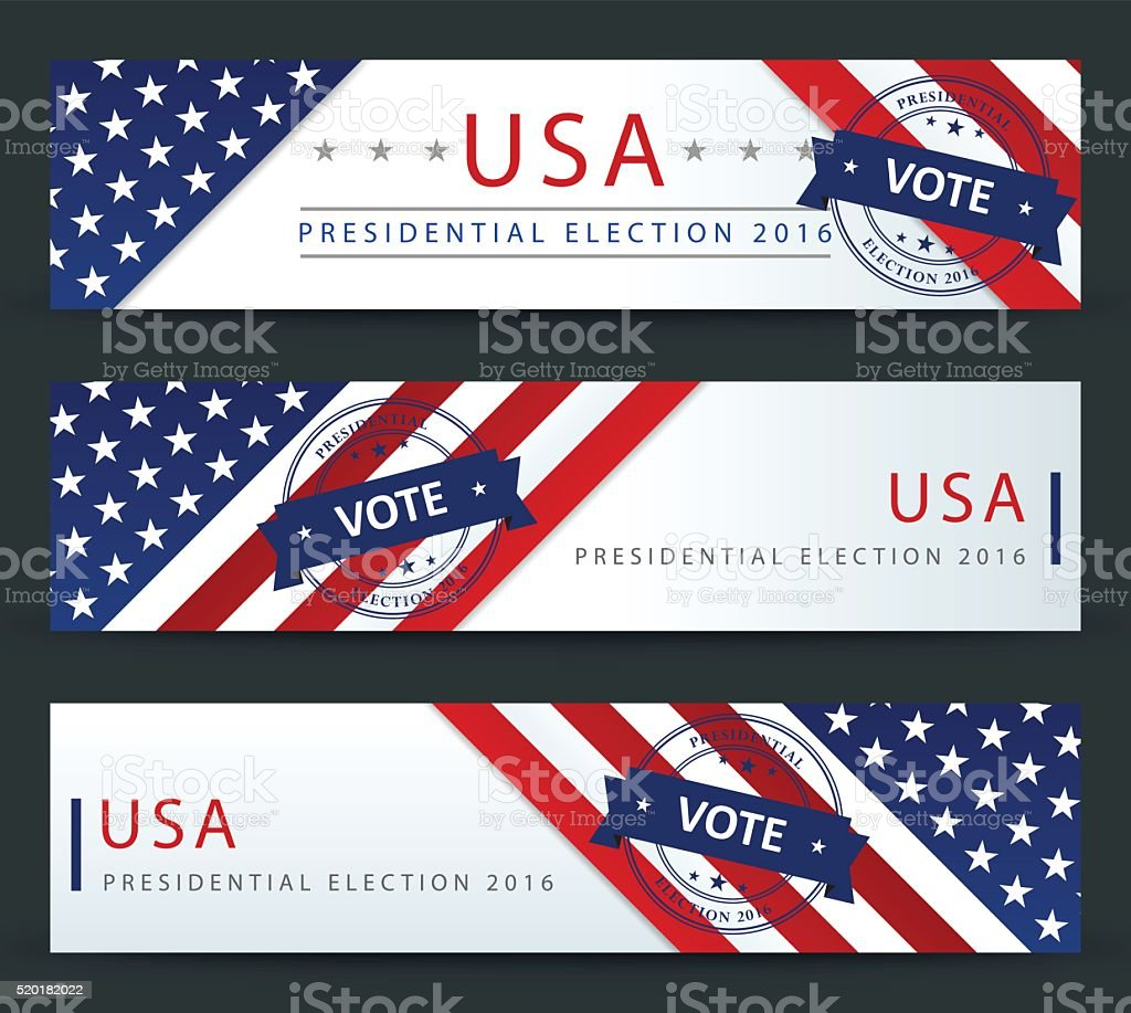 Presidential election in the USA - banner template vector art illustration