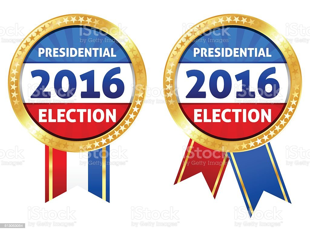 2016 Presidential Election Ribbon vector art illustration
