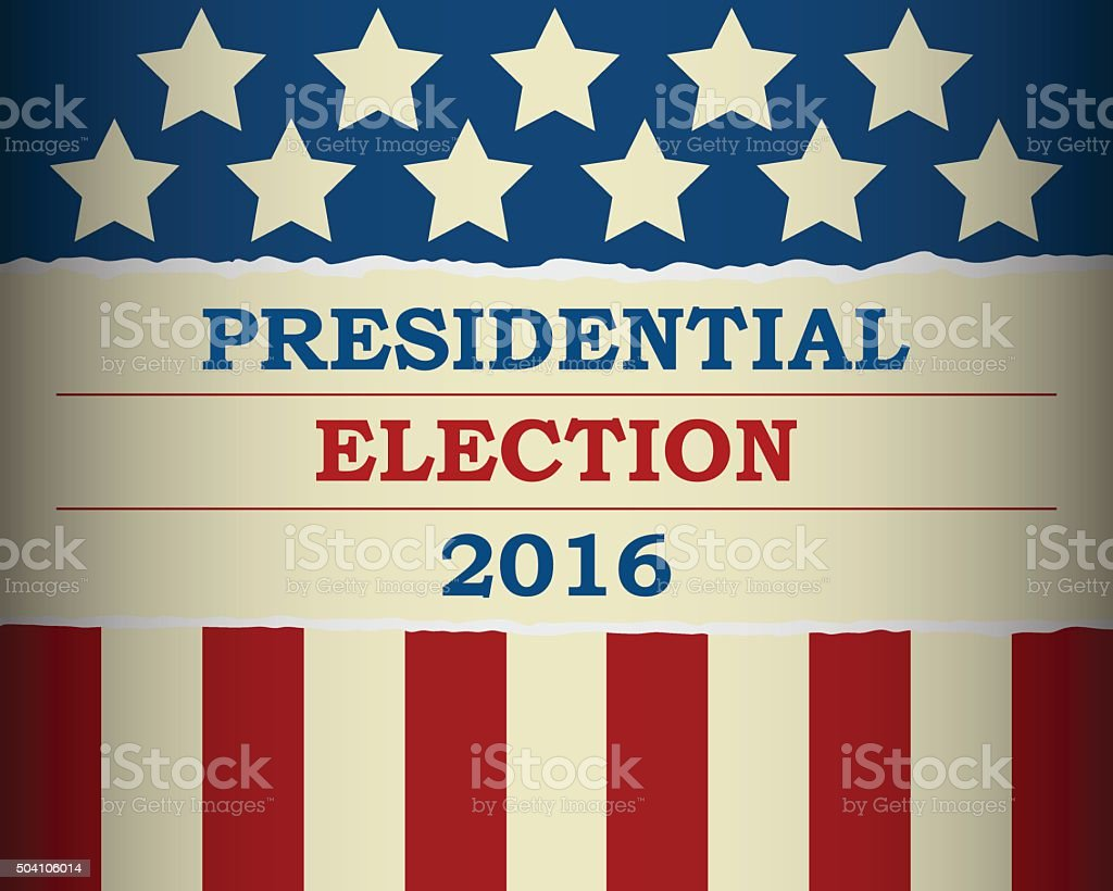 USA 2016 Presidential Election - template vector art illustration