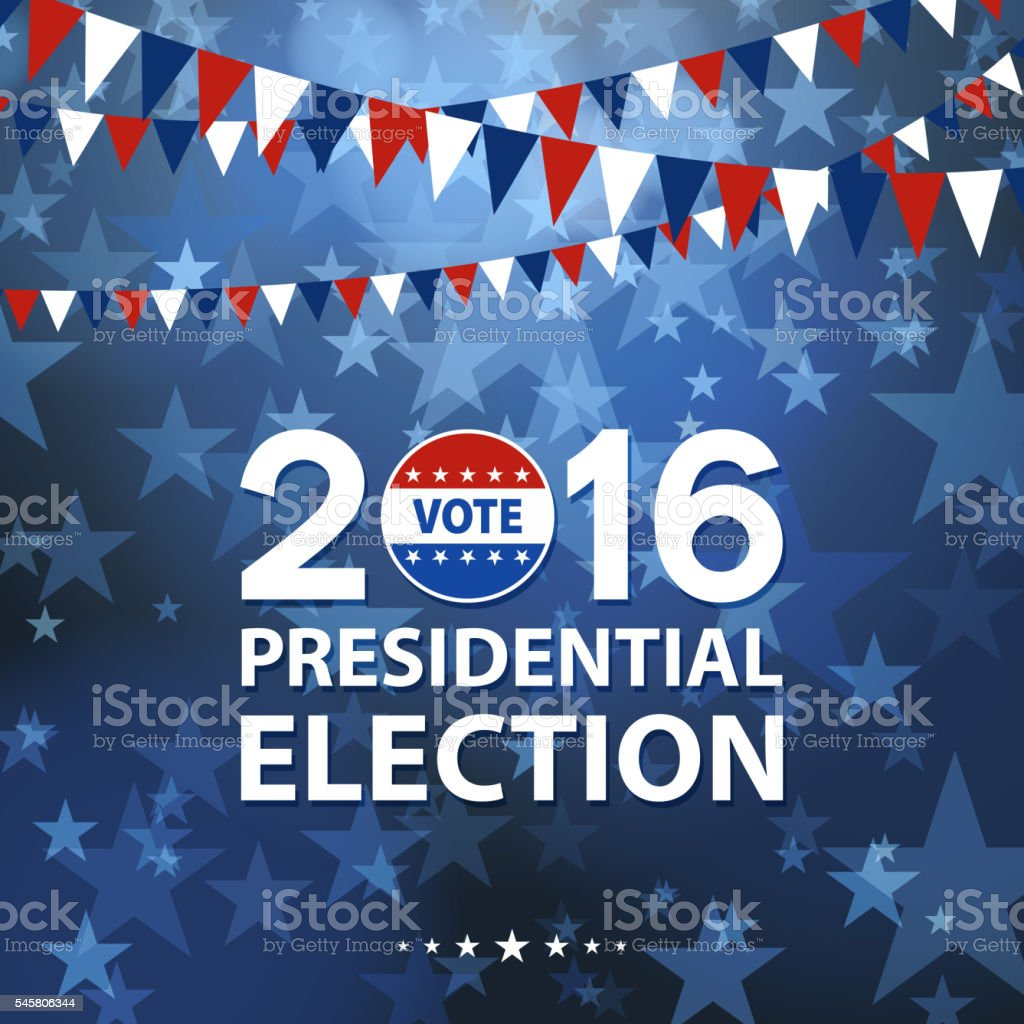 Presidential Election vector art illustration