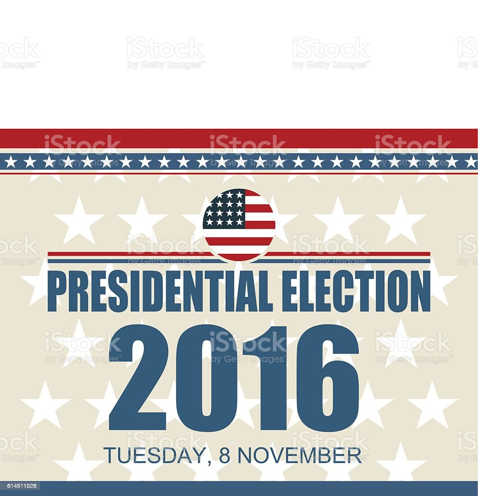 Presidential election vector art illustration