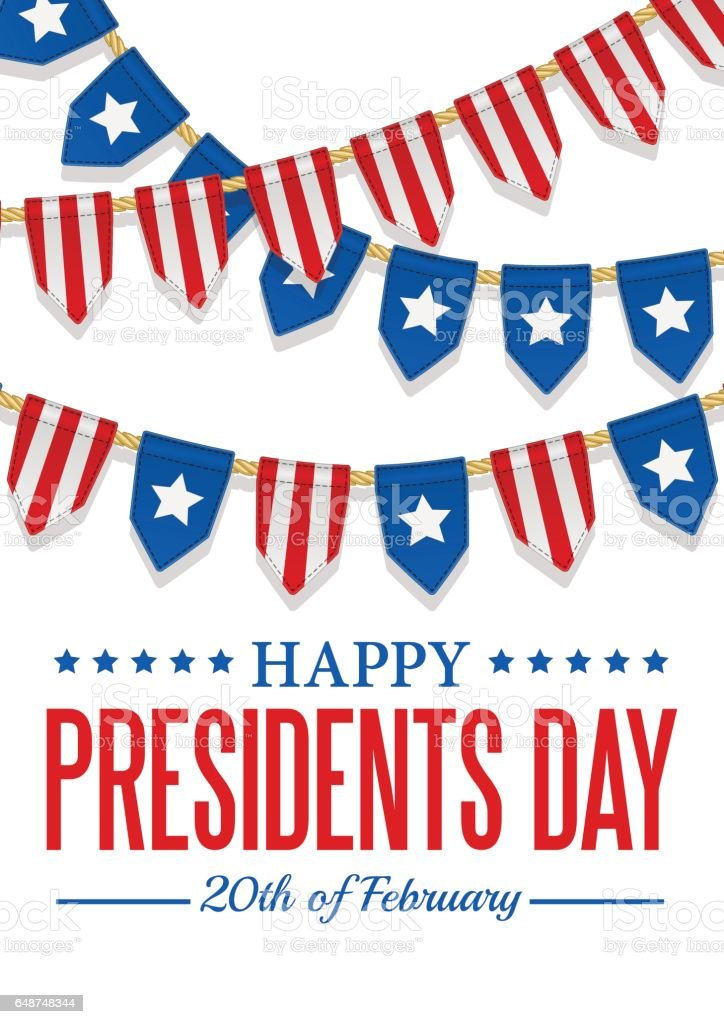Presidents Day background. USA patriotic template with stripes and stars. vector art illustration