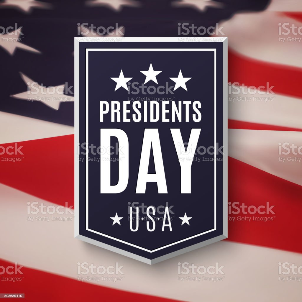 Presidents day background. vector art illustration
