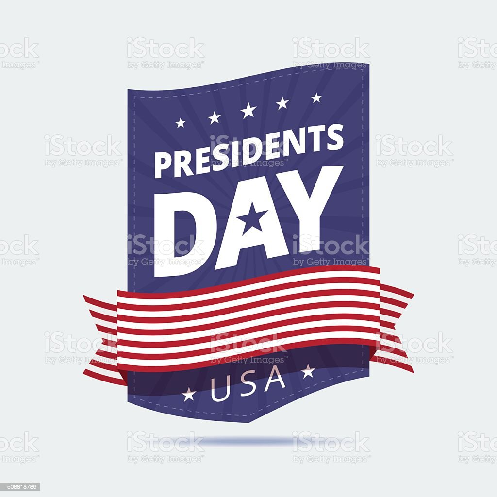 Presidents Day banner. vector art illustration