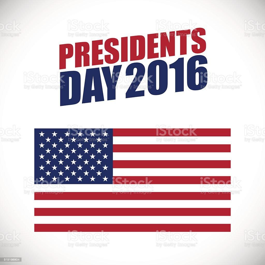 Presidents Day holiday vector banner vector art illustration