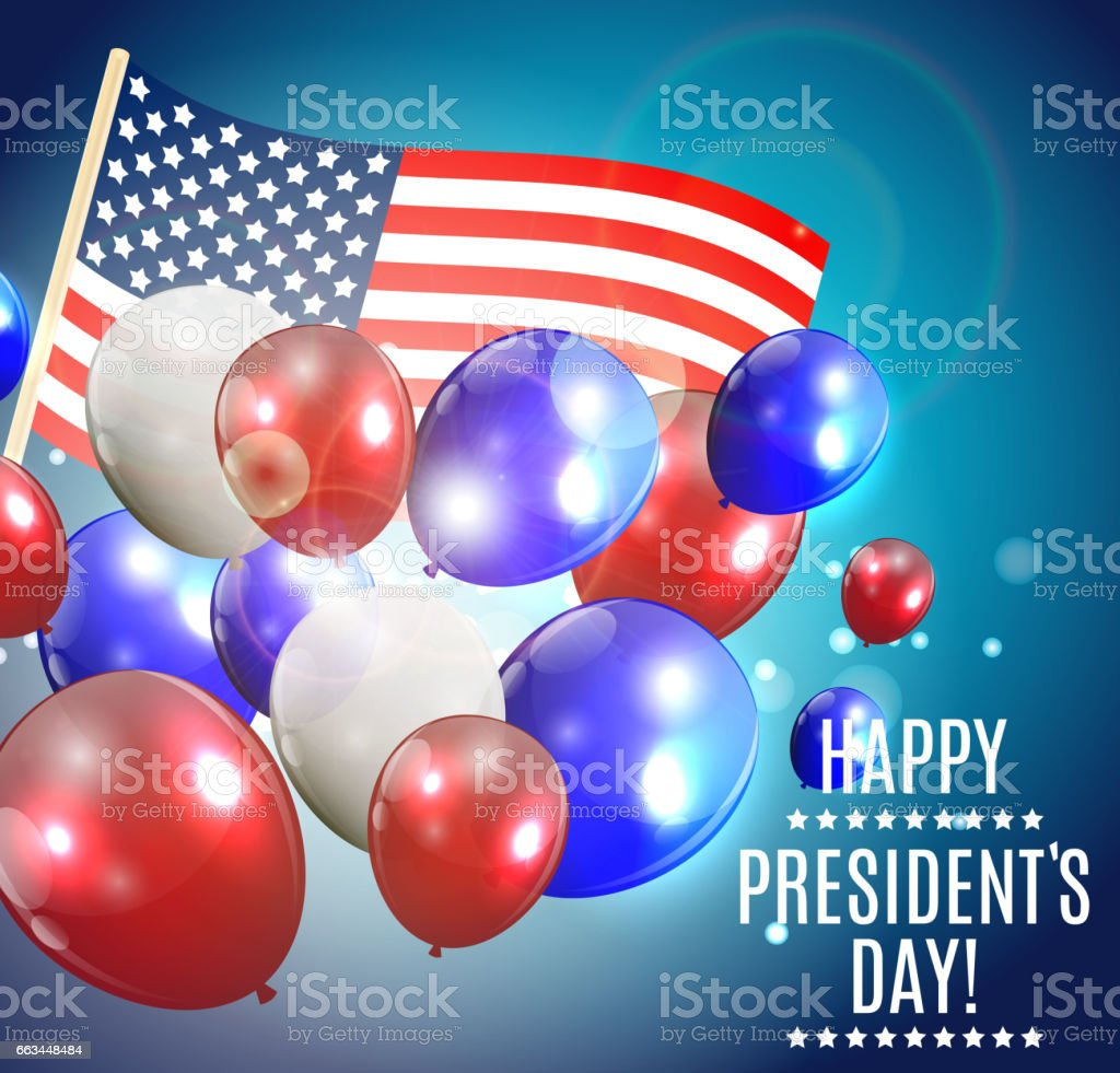 Presidents Day in USA Background. Can Be Used as Banner or Poste vector art illustration
