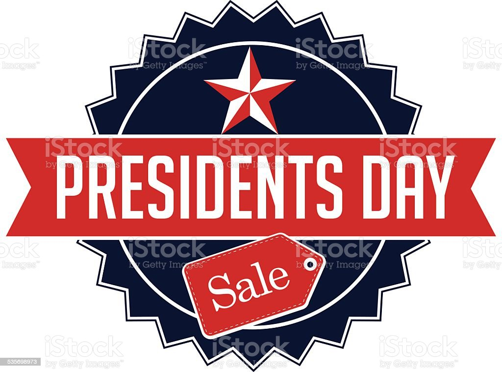 Presidents Day sale Icon Insignia EPS 10 vector vector art illustration