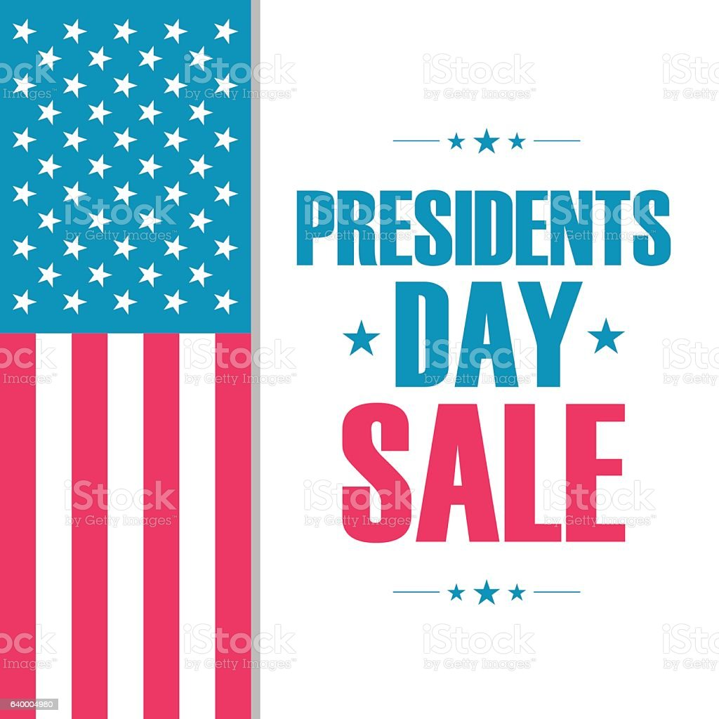 Presidents Day Sale special offer banner for business. vector art illustration