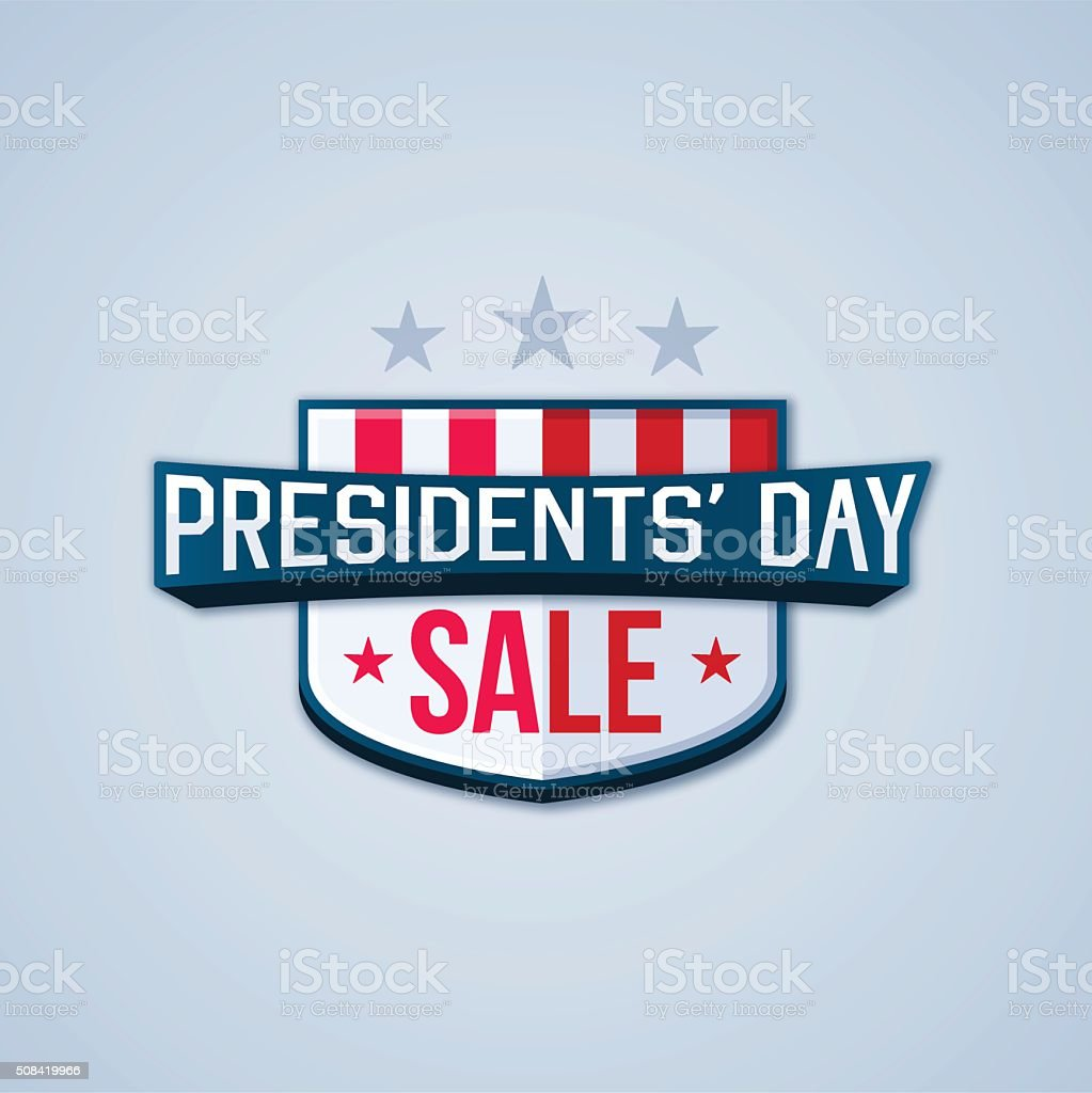 Presidents' Day Sale vector art illustration