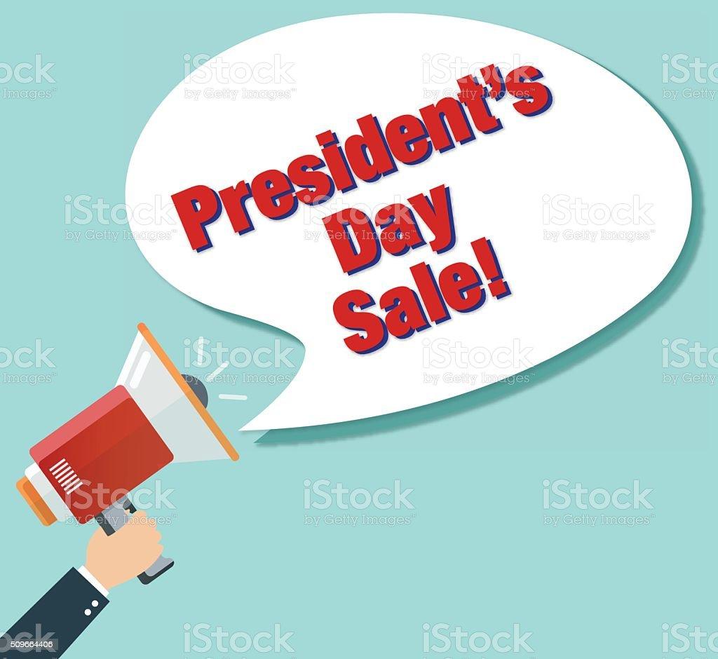 President's Day Sale! vector art illustration