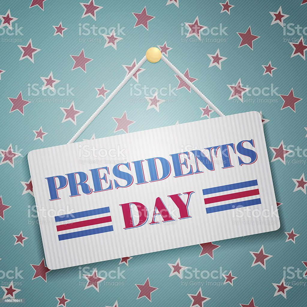 Presidents day vector art illustration