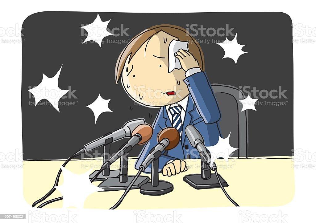 Press Conference vector art illustration
